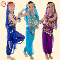 Bellydance Set for Kids Children Oriental Yoga Bollywood Practice Indian Dress