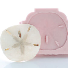 Sand Dollar Seashell Silicone Mold Candy Chocolate Mint Resin Polymer Clay (839)