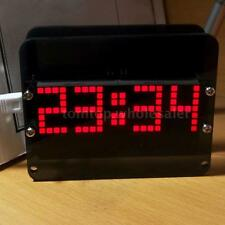 DS3231 DIY Dot Matrix LED Electronic Clock Kit Digital Temp Display Alarm O6HU