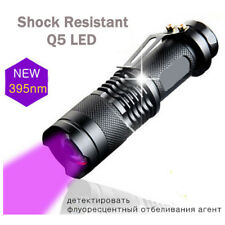 Zoomable Led UV Flashlight Torch Light 395nm Ultra Violet Blacklight AA Battery