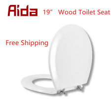 19� Heavy Duty Toilet Seat, Round/Elongated Slow Close Easy Install & Clean