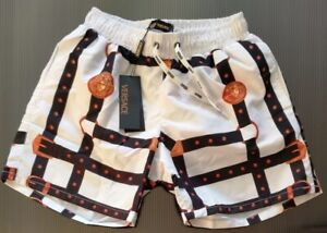 NEW VERSACE MENS WHITE SWIM SHORTS