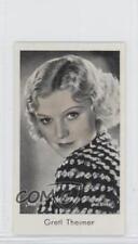 1934 Caid Beruhmter Filmkunstler Tobacco Base #196 Gretl Theimer Card 1s8