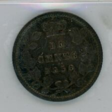 1858 Province of Canada 10 Cents Coin - ICCS VF-20 Cert#FI122