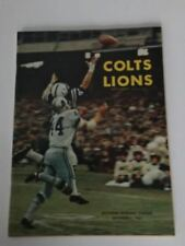 1964 BALTIMORE COLTS VS LIONS GAME PROGRAM NM
