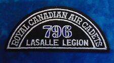 CANADA Royal Canadian Air Cadets LASALLE LEGION 796 squadron shoulder flash