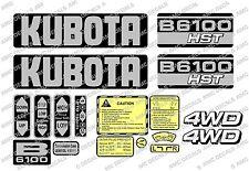 Kubota B6100 HST tracteur compact Decal Sticker Set