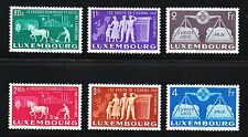Luxembourg 1951 MLH Mi 478-483 Sc 272-277 United Europe.Agriculture,industry VF*