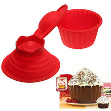 3pcs DIY Silicon Jumbo Giant Big Top Birthday Cupcake Cup Cake Mould Mold Baking