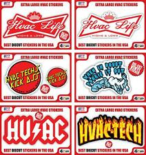Hvac Tech Hard Hat and Toolbox Stickers Heating and Air Conditioning - 30 Decals