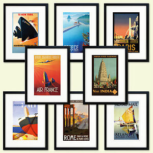 Vintage Travel Posters reproduction Print Size A3 and A4