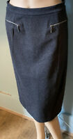 M&S Collection Stretch Pencil Skirt With Stretch U.K. Size 10 Charcoal Grey Exc
