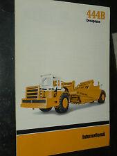 Prospectus IH INTERNATIONAL Décapeuse 444B 1978   MAC CORMICK Brochure  TP
