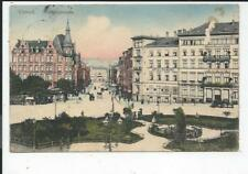CASSEL << Bahnhofstr. m. Hotel du Nord, Grünanlage >> col Kunst- AK kl