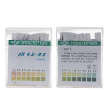 100 Strip 4.5-9 PH Alkaline Acid Indicator Paper Water Saliva Litmus Testing'Kit
