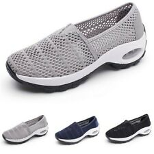 Womens Sport Shoes Running Breathable Mesh Walking Slip-On Sneakers Comfort B