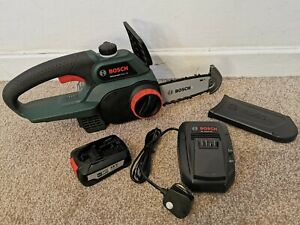 BOSCH 18V CORDLESS CHAINSAW UNIVERSALCHAIN COMPLETE WITH BATTERY & CHARGER 1P!