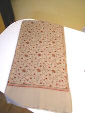 Original Pure Pashmina Cashmere and Hand-Embroidered Silk Genuine Kashmiri Shawl
