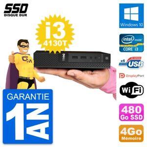 Ultra Mini PC Dell 3020 Micro USFF i3-4130T RAM 4Go SSD 480Go Windows 10 Wifi