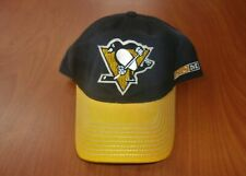 CCM NHL Pittsburgh Penguins Hockey Retro Throwback Logo Washed Cotton Hat ~NWT~