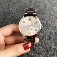 2019 New Women Stainless Steel quartz Wristwatch Fashion Inlaid pearl Bear Watch