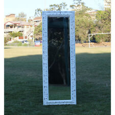 Europe palace style Embossed Wall Mirror White Wooden frame 143CM x 51CM