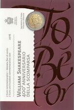 2 Euro Commémorative de Saint-Marin 2016 Brillant Universel (BU) - Shakespeare