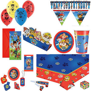 PAW PATROL BOY/ GIRL BIRTHDAY THEME PARTY DECORATIONS  TABLEWARE BALLOONS BANNER