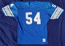 1980s Chris Spielman Signed MACGREGOR SAND KNIT Detroit Lions Issued JERSEY vtg