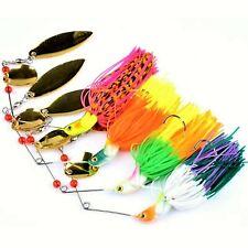 4PCS Spinner Fishing Lure Spinnerbaits Spoon Spoon bait Bass Minnow 0.65oz