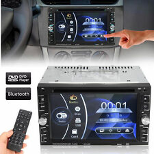 "Bluetooth Car Stereo DVD CD Player 6.2"" Double 2Din Radio In-Dash HD FREE SHIP H"