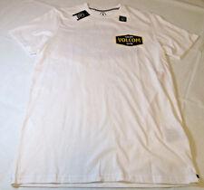 Men's Volcom short sleeve orgnc cotton t shirt surf skate XL Modern Fit white