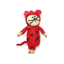 *SPECIAL* One (1) piece Guatemalan Red Cat Wish Doll / Worry Doll