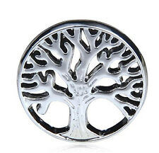 floating Locket charm 22mm silver discs Round for glass Living Memory Tree HH11