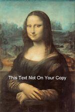 Mona lisa de leonardo da vinci toile d'impression A3 lagioconda la joconde poster new