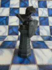 Harry Potter Wizard Chess Board Game - Black Rook Replacement Piece Part only