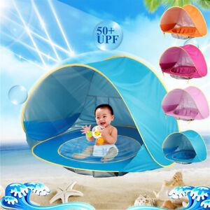 Baby Beach Tent with Pool UV UPF50+ Shade Tent Infant Baby Beach Sun Shade UK