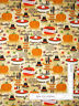 Autumn Thanksgiving Dinner Pumpkin Pie Cotton Fabric David Textiles By The Yard