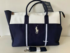 New Polo Ralph Lauren Navy White Gym Duffle Weekender Bag FREE PRIORITY SHIP