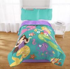 Mermaid Comforter Girls Bedding Ocean Themed Coastal Twin Full Bedspread Sherpa