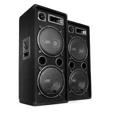 PACK ENCEINTES SONO 3 VOIES SET DJ PA DISCO SCENE CONCERT SUBWOOFER 30,5CM 2000W