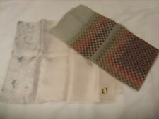 Lot of Two (2) Vintage Scarves Subtle Gray & Earth Tones Japan Silk Taiwan Nylon