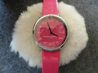 """""""Math"""" Quartz Ladies Watch - Pink with a Pink Band"""