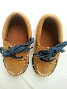 Zara Baby Boy shoes US 4 EU 19 camel brown leather moccasins