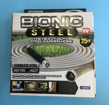 Bionic Steel Stainless Metal Garden Hose Lightweight Kink Free 25 New B85