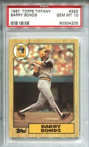 1987 Topps Tifffany Baseball #320 Barry Bonds Rookie Card RC PSA Gem Mint 10