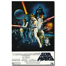 Star Wars 4 A New Hope Classic Movie Silk Poster 12x18 24x36inch