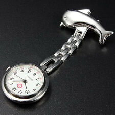 Nurse Clip-on Fob Pin Brooch Pendant Quartz Hanging Pocket Watch Stainless Steel