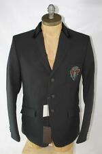 AUTH $1995 Gucci Men Black Polyamide Blazer Jacket 52/L