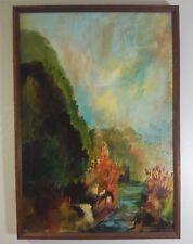 """California Creek"" Mid Century PLEIN AIR oil on canvas Signed - 27"" x 19"" FRAMED"